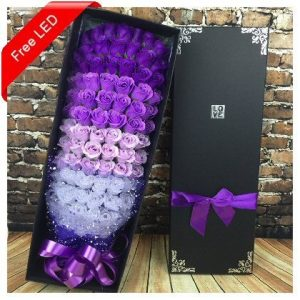 99 Purple Soap Flowers Roses