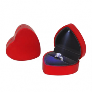 LED Ring Box Heart Shape