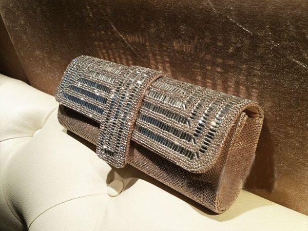 Rhinestone Glitter Clutch Bag