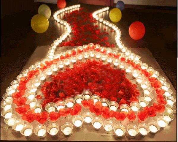 Electronic Candles Scene Layout