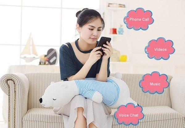 Bluetooth Speaker Pillow Bolster Doll