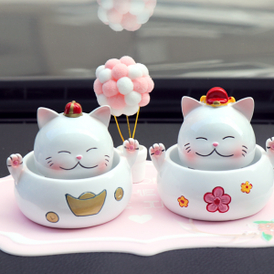 Car Decorations Cat Figurines