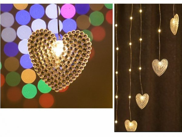LED Light Love Shape Decoration