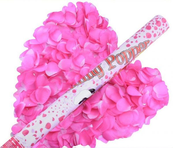 Confetti Party Poppers Pink Petals
