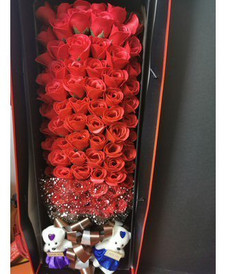 Scented Artificial 99 Red Roses