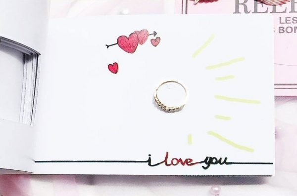 Marriage Proposal Book Hidden Ring