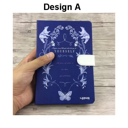 Hard Cover Magnetic Lock Notebook