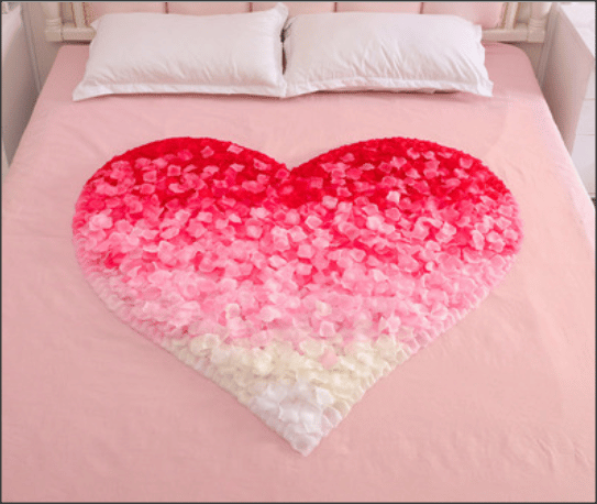 Heart Shape Rose Petals Decoration