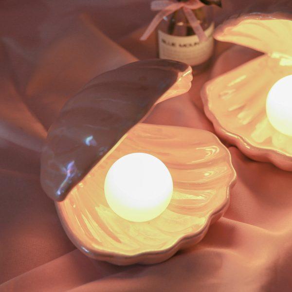Ceramic Pearl Shell Lamp