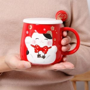 Lucky Cat Fengshui Mug