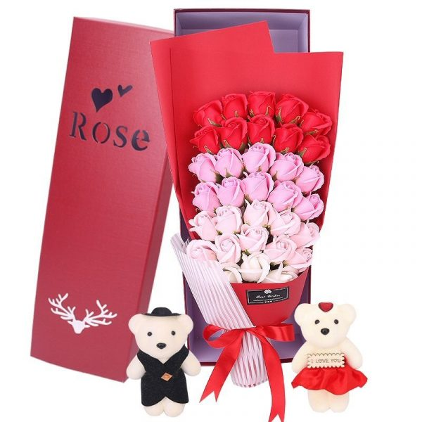 33 Red Pink Roses