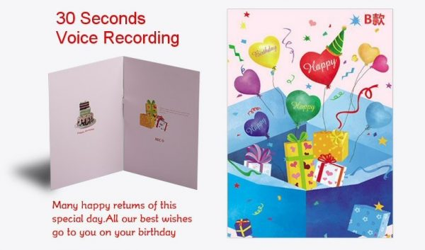 Birthday Card Voice Recording