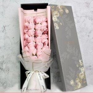 Light Pink 29 Soap Flowers Roses