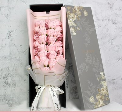 Light Pink 29 Soap Flowers Roses