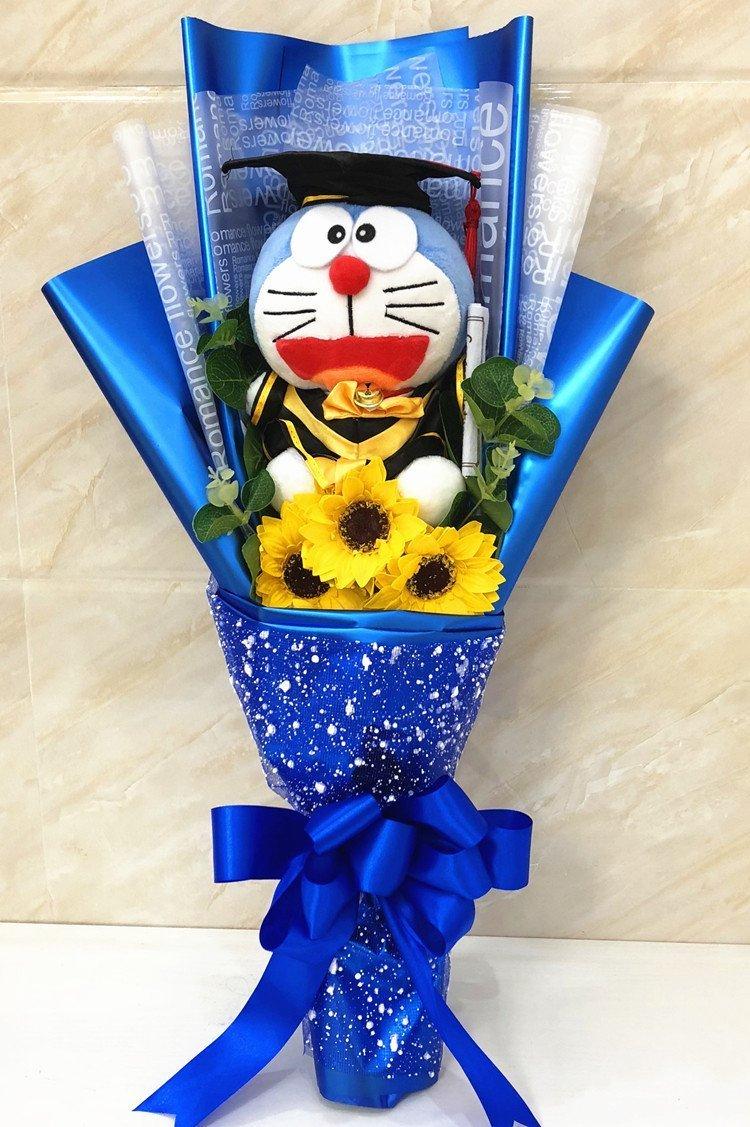 Graduation Bouquet Doraemon Sunflower
