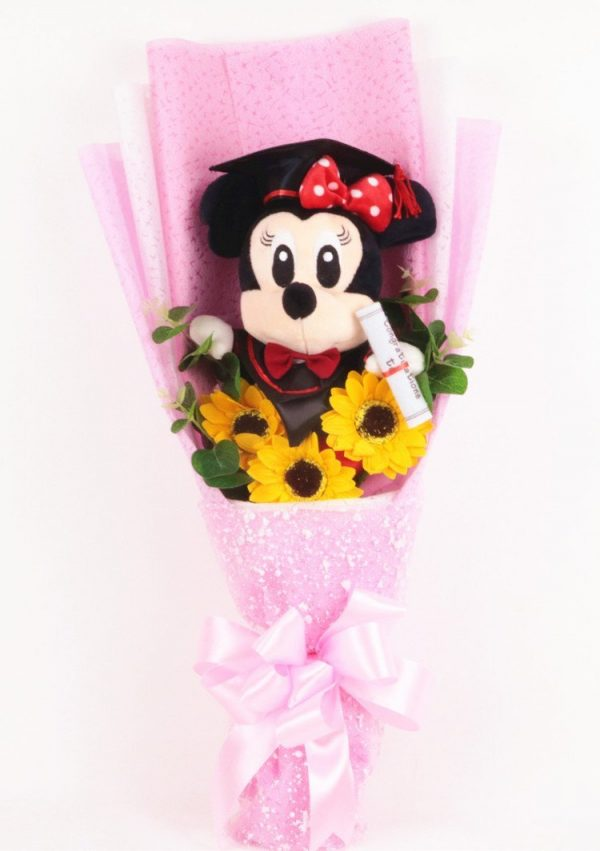 Mickey Sunflower Graduation Bouquet