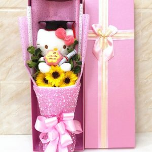Hello Kitty Doll Sunflower Graduation