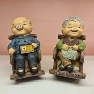 Elder Figurines Relaxing