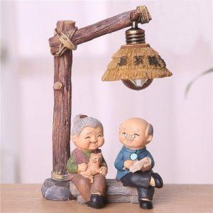 Elder Figurines Wooden Lights