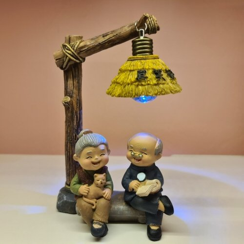 Elder Figurines Wooden Lights
