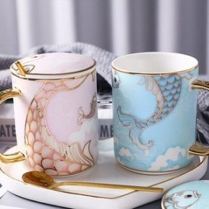Mermaid Pair Ceramic Cup Gift Box