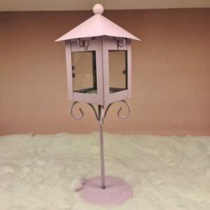 Candle Lantern European Style - Pink