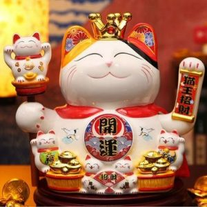 Lucky Cat Gold Ingot Wealth Pot