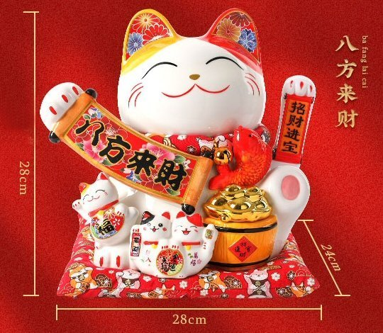 Large Lucky Cat Fortune Everywhere