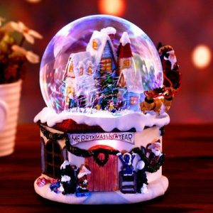 Snow House Santa Claus Music Box