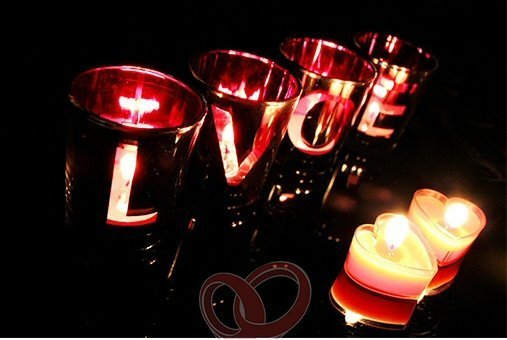 4 Love Letter Candle Holder