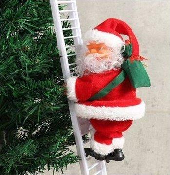 Musical Santa Claus Climb Stair