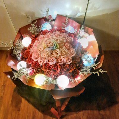 65 Multi Colors Soap Flowers