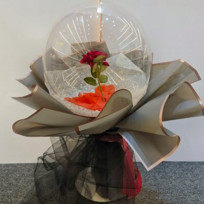 Red Rose Grey Cover Balloon