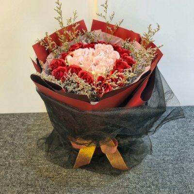 Heart To Heart Soap Flowers Bouquet