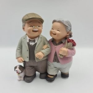 Happy Couple Elder Figurines