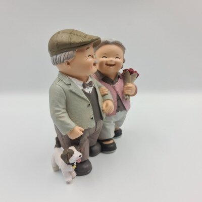 Happy Couple Elder Figurines