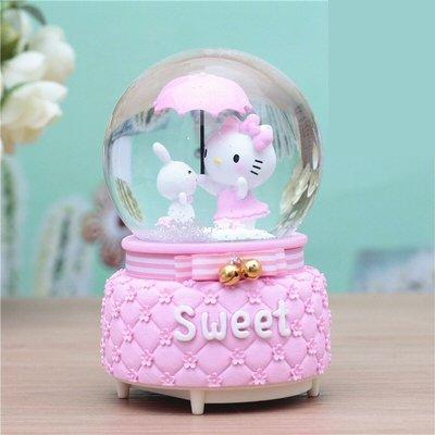 Hello Kitty Auto Snow Music Box