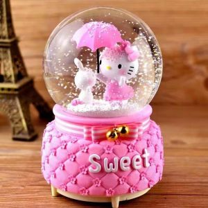 Hello Kitty Auto Snow Music Box