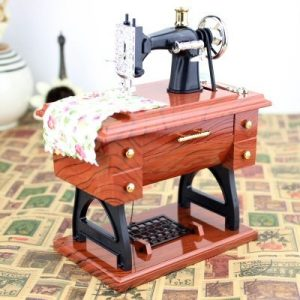 Retro Sewing Machine Music Box