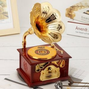 Retro Phonograph Music Box