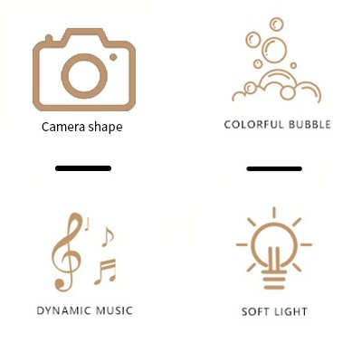Bubble Camera Musical Batteries