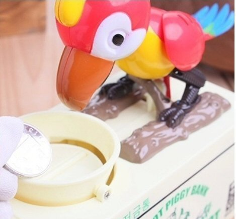 Electronic Parrot Coin Bank