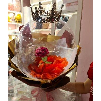 Crown Balloons Red Rose