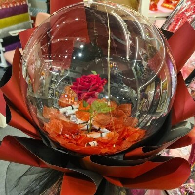 Red Rose Money Balloon Bouquet