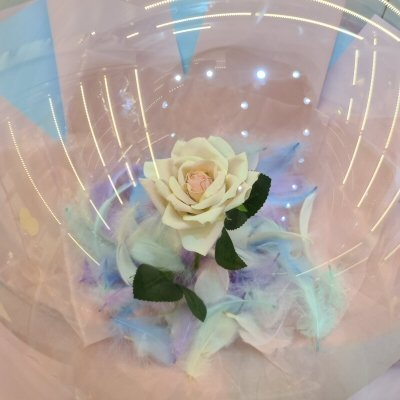 Yellow Rose Color Feather Balloon