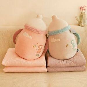 Milk Bottle Cushion With Quilt
