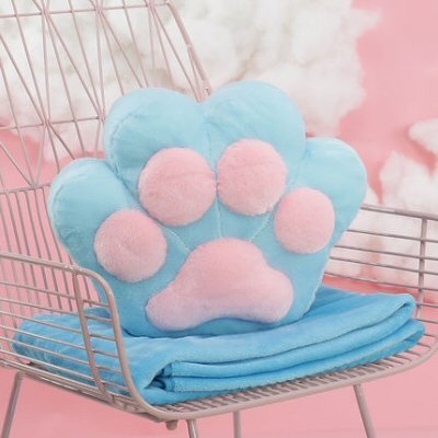 Cat Paw Pillow Blanket