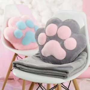 Cat Paw Pillow Blanket