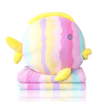 Coral Fleece Blanket Cushion