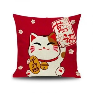 Lucky Cat Pillow Cushion